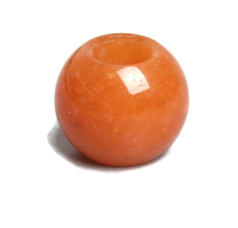 Orange Stone Dread Bead