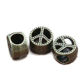 Bronze Peace Dread Bead