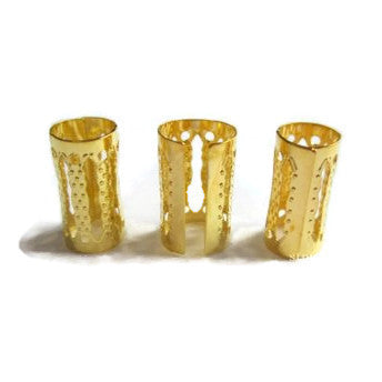 Extra Large Gold Dread Cuffs