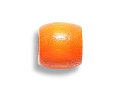 Tangerine Wooden Dread Bead