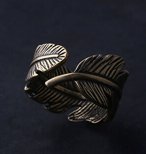 Copper Feather Dread Cuff