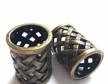 Brass Weaved Dread Bead