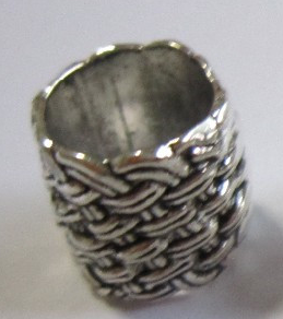 Large Knots Pewter Dread Bead