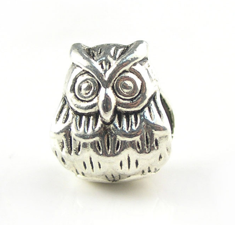 Owl Pewter Dreadlocks Bead