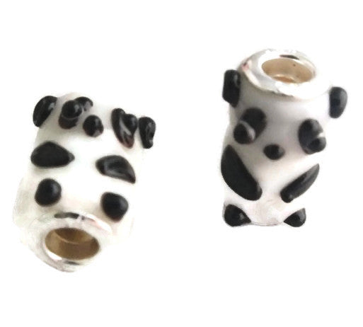 Glass Panda Dread Bead