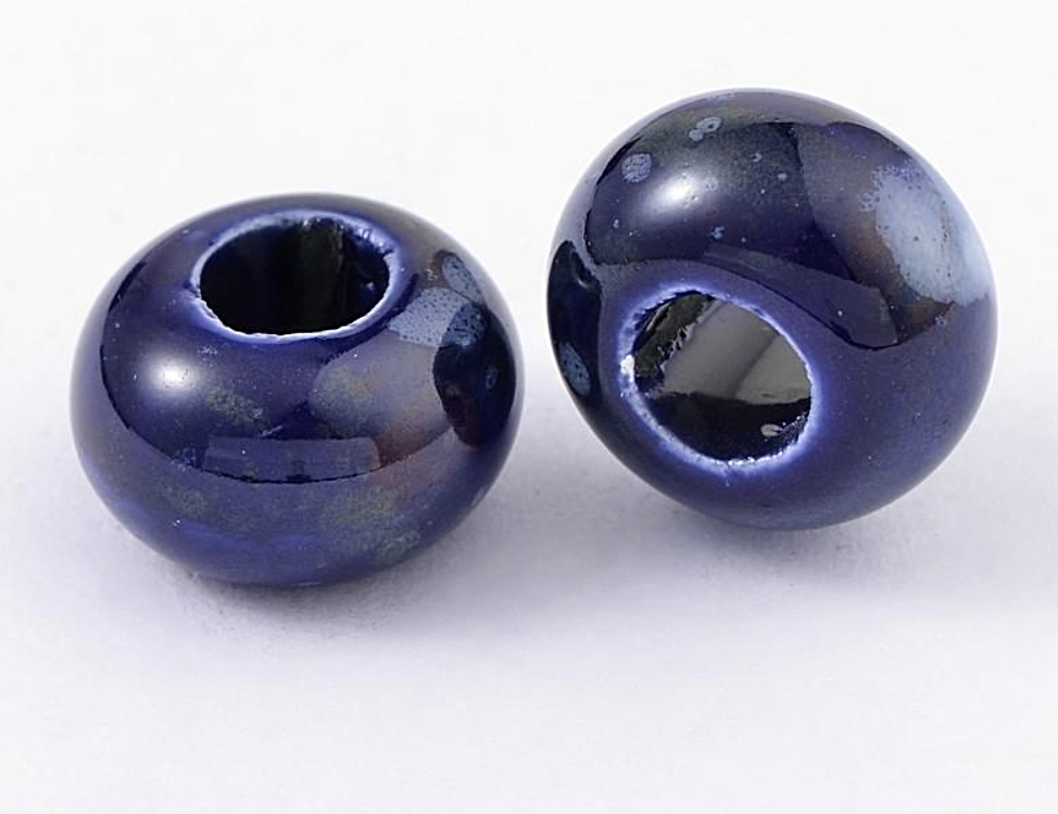 Blueberry Ceramic Dreadlocks Bead