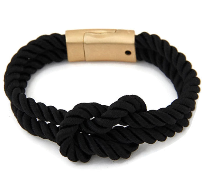 Black Rope Dread Tie