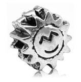 Clip on Sunshine Pewter Dread Bead