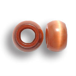 Caramel Cat's Eye Dread Beads