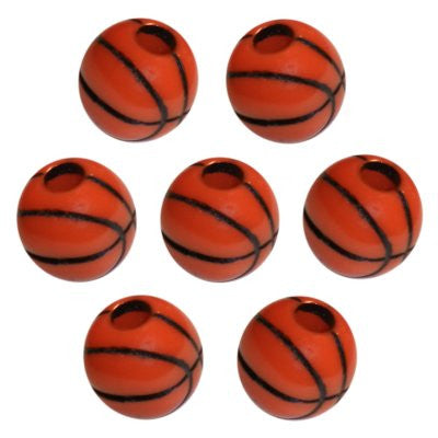 Basketball Dread Bead