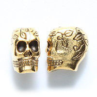 Bronze Skull Dreadlocks Bead