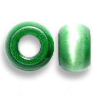 Green Cat's Eye Dread Beads