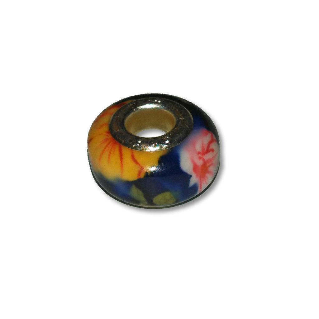 Flower Garden Glass Dread Bead