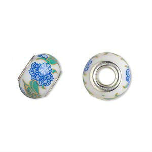 Glass Dread Bead 17