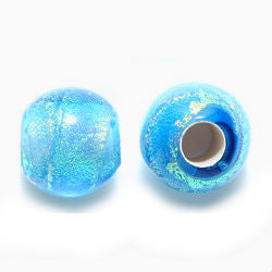 Blue Dream Glass Dread Bead