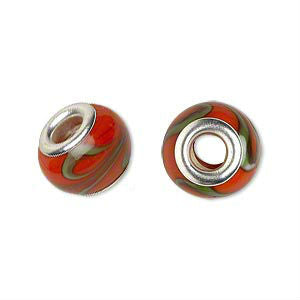 Glass Dread Bead 6