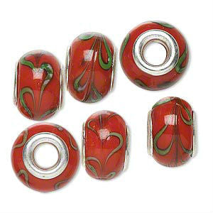 Glass Dread Bead 8