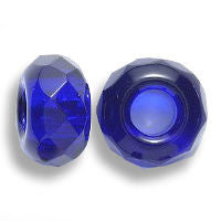 Cobalt Blue Glass Dread Bead