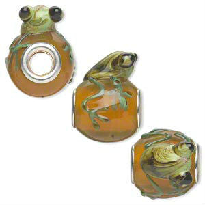 Glass Frog Dread Bead Brown