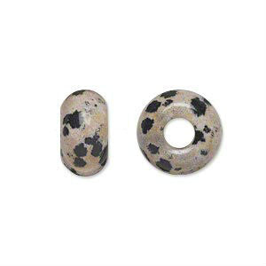 Dalmation dread bead