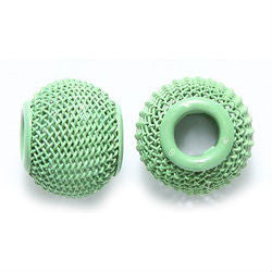 Lime Mesh Dreadlocks Bead