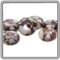 Coral Mother of Pearl Dread Bead