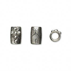 Pewter Dreadlocks Bead Style 34