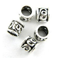 Pewter Dreadlocks Bead Style 46