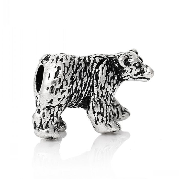 Pewter Bear Dreadlocks Bead
