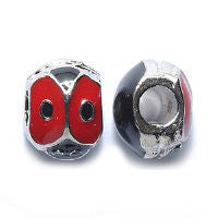 Lady Bug Pewter Dreadlocks Bead