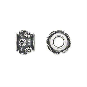 Daisy Pewter Dreadlocks Bead