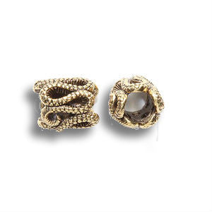 Gold Snake Pewter Dread Bead