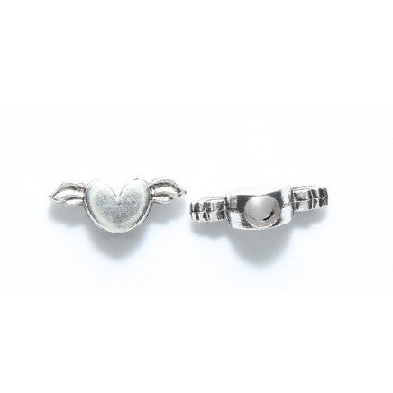 Hearts Pewter Dreadlocks Bead 2