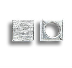 Square Zinc Dread Bead