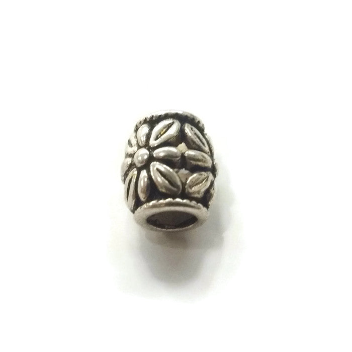 Pewter Flowers Dreadlocks Bead