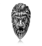 Large Lion Pewter Dread Bead
