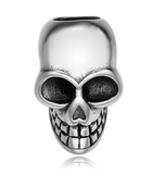 Large Skull Pewter Dread Bead