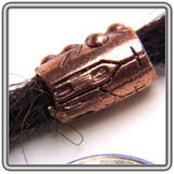 Copper Cross Dread Bead