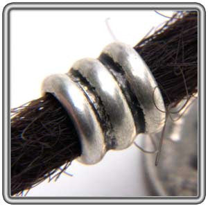 Pewter Dreadlocks Bead Style 1
