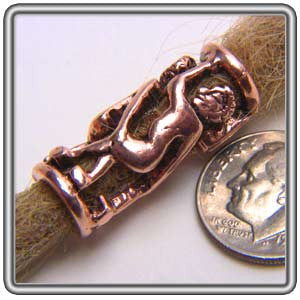 Pewter Dreadlocks Bead Style 2 Copper