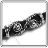 Pewter Dreadlocks Bead Style 3 Silver