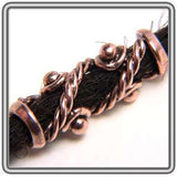 Pewter Dreadlocks Bead Style 3 Copper