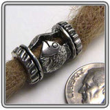 Pewter Dreadlocks Bead Style 6