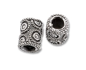 Pewter Dread Bead Circles