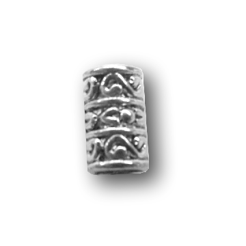 Pewter Swirly Dread Bead