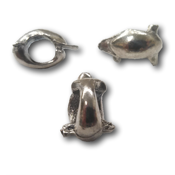 Pewter Dolphin Dread Bead