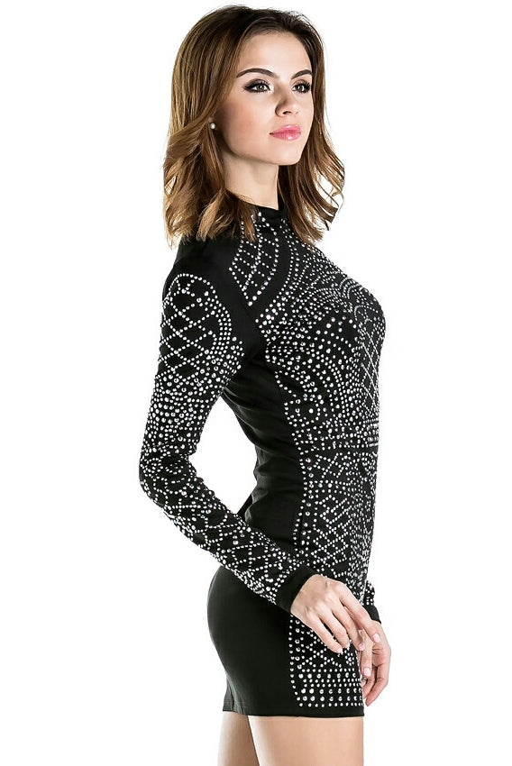 Black Studded Dress 3gS5QRtq