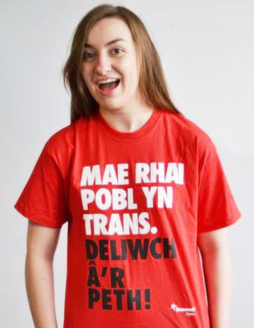 Some People are Trans. Get over it! (Welsh language) t-shirt