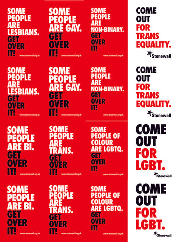 LGBT Equality stickers (16 per A4 sheet)