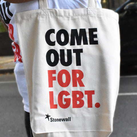Come Out for LGBT. tote bag